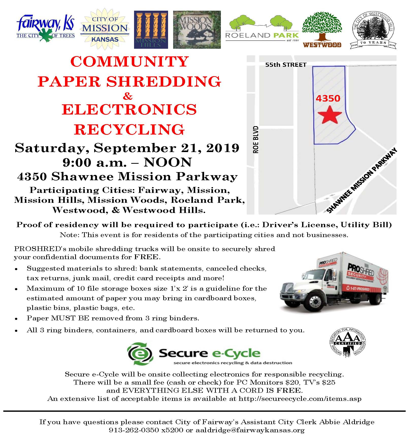 2019 Shredding Event revised 05012019